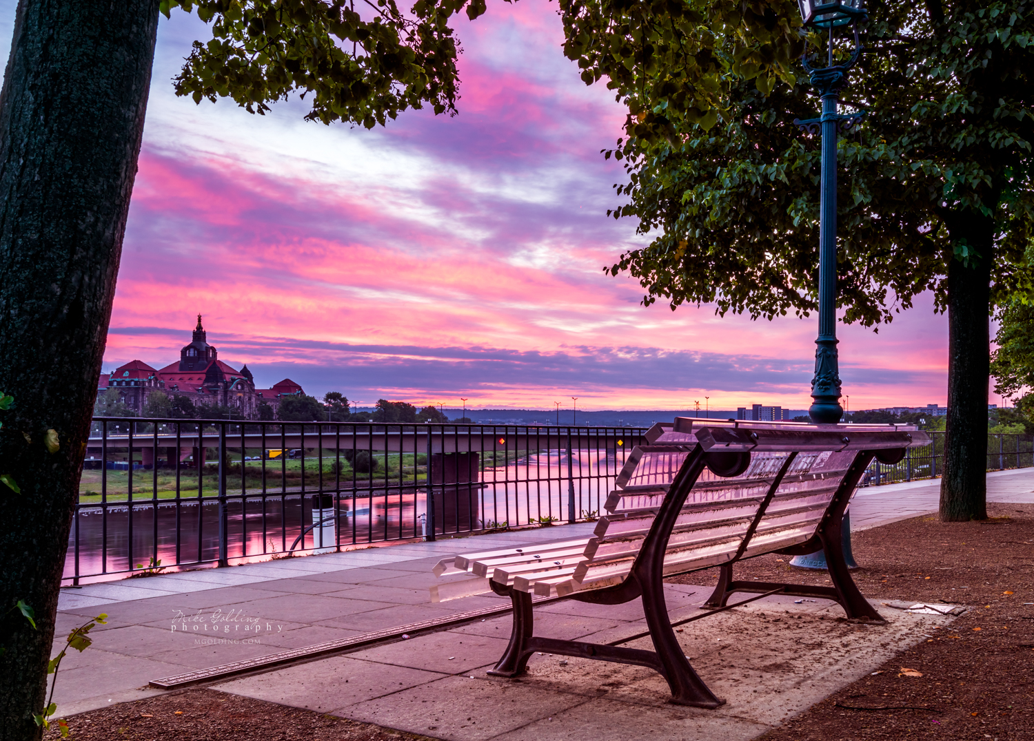 Pink Over The Elbe